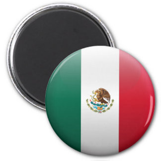 Flag of Mexico 2 Inch Round Magnet