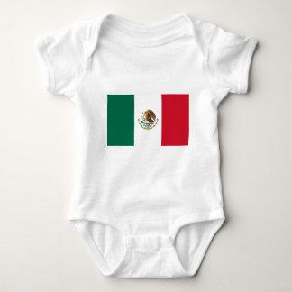 Flag of Mexico - Mexican Flag - Bandera de México Baby Bodysuit