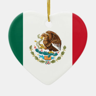 Flag of Mexico - Mexican Flag - Bandera de México Ceramic Ornament