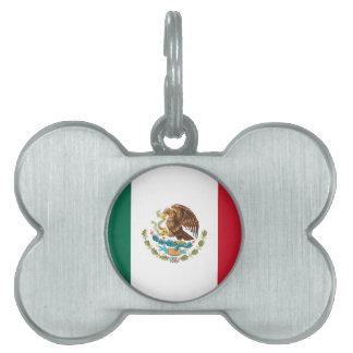 Flag of Mexico - Mexican Flag - Bandera de México Pet Tag