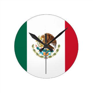 Flag of Mexico - Mexican Flag - Bandera de México Round Clock
