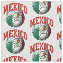 Flag of Mexico Mexican Soccer Ball Pattern Fabric