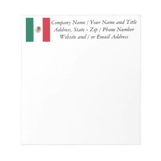 Flag of Mexico Notepad