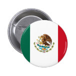 Flag Of Mexico Pinback Button at Zazzle