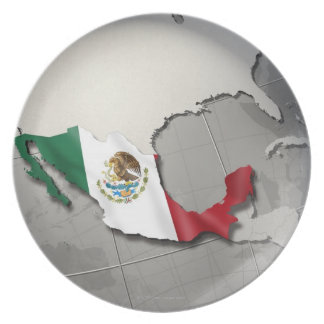 Flag of Mexico Party Plate