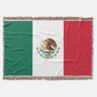 Flag of Mexico Premium Woven Throw Blanket