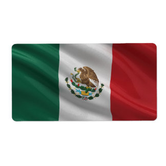 Flag of Mexico Shipping Label