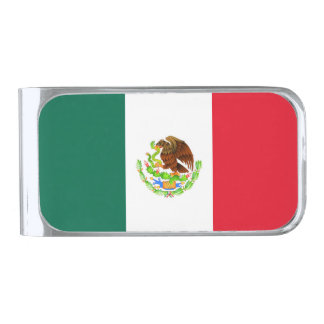 Flag of Mexico Silver Finish Money Clip