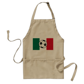 Flag of Mexico Soccer ball Apron