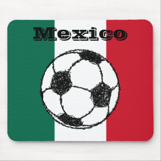 Flag of Mexico | Soccer ball Mouse Pad