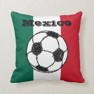 Flag of Mexico   Soccer ball Pillow