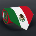 """Flag of Mexico Tie<br><div class=""""desc"""">Mexican flag patriotic color custom flag of Mexico gifts for Mexican sports fans,  restaurants or home decor.The green represents hope,   the white represents purity,  and the red represents the blood that was shed in the fight for independence.</div>"""