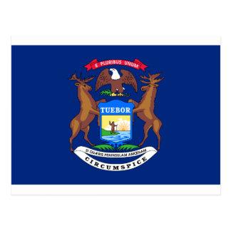 Flag_of_Michigan Postcard