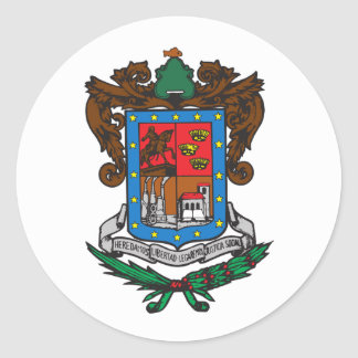 Flag of Michoacan Classic Round Sticker