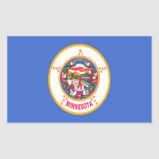 Flag of Minnesota Rectangle Sticker