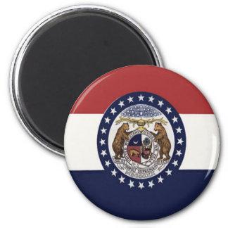 Flag of Missouri 2 Inch Round Magnet