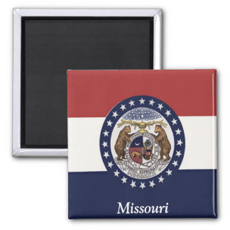 Flag of Missouri 2 Inch Square Magnet