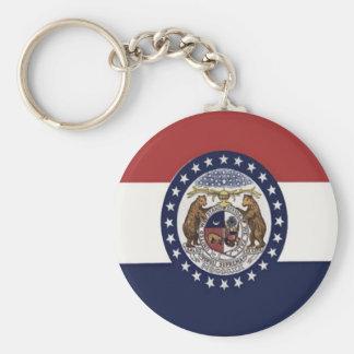 Flag of Missouri Basic Round Button Keychain