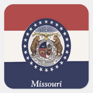 Flag of Missouri Square Sticker