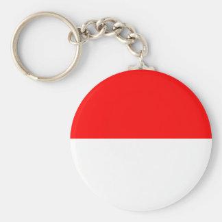 Flag of Monaco Basic Round Button Keychain