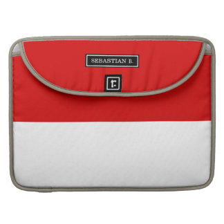 Flag of Monaco Sleeve For MacBooks
