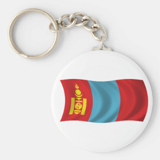 Flag of Mongolia Basic Round Button Keychain