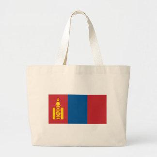 Flag_of_Mongolia Large Tote Bag