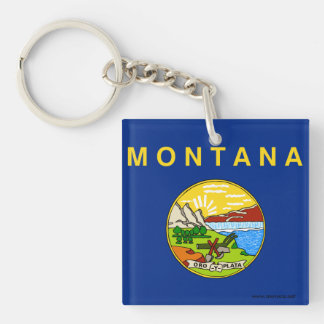 Flag of Montana Keychain