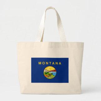 Flag Of Montana Large Tote Bag