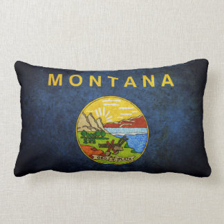 Flag of Montana Lumbar Pillow