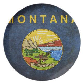 Flag of Montana Plate