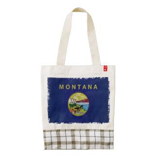 Flag of Montana Zazzle HEART Tote Bag