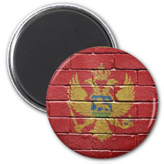 Flag of Montenegro 2 Inch Round Magnet