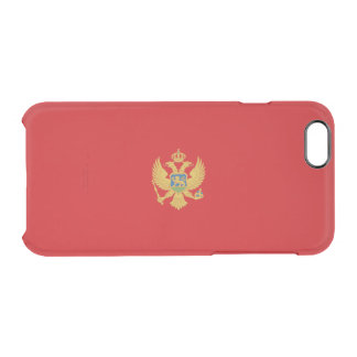 Flag of Montenegro Clear iPhone Case