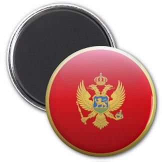 Flag of Montenegro 2 Inch Round Magnet