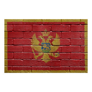 Flag of Montenegro Poster