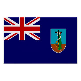 Flag of Montserrat Poster
