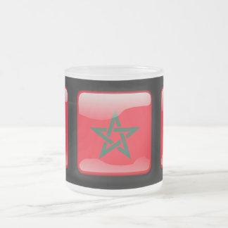 Flag of Morocco Frosted Glass Coffee Mug
