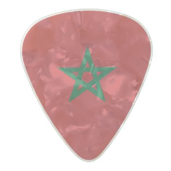 Flag Of Morocco Guitar Picks by Flagosity at Zazzle