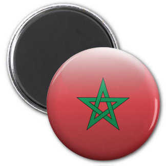 Flag of Morocco 2 Inch Round Magnet