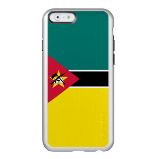 Flag of Mozambique Silver iPhone Case