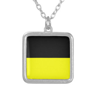 Flag of Munich Silver Plated Necklace