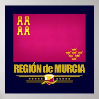 Flag of Murcia Poster