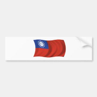 Flag of Myanmar Bumper Sticker