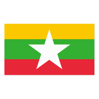 Flag of Myanmar Business Cards Pack Of Standard Business Cards