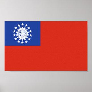 Flag of Myanmar Poster