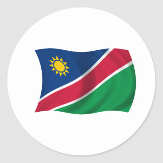 Flag of Namibia Classic Round Sticker