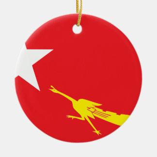 Flag of National League for Democracy Ceramic Ornament