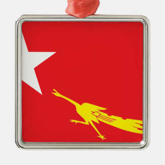 Flag of National League for Democracy Metal Ornament