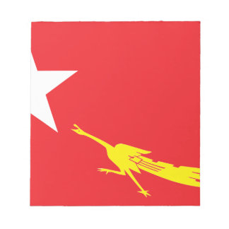 Flag of National League for Democracy Notepad